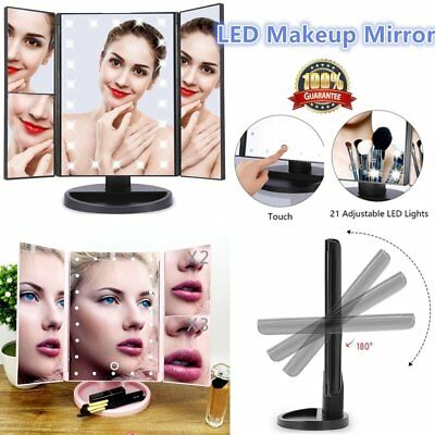 22 LED Light Cosmetic Illuminated Desktop Makeup Mirror with Touch Screen K⊥