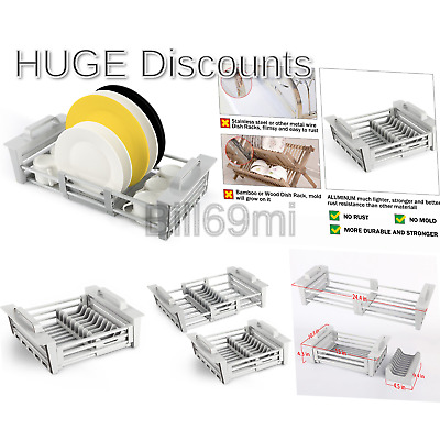 MIUSCO EXPANDABLE OVER The Sink Dish Drying Rack, Dish Drainer, Sink  Colander