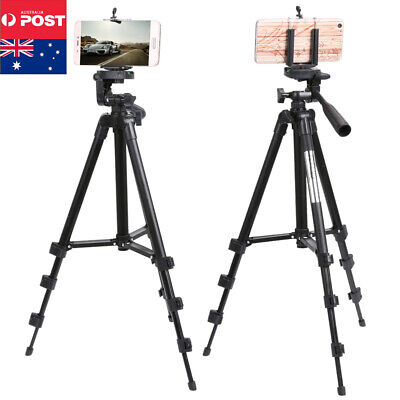 Profession Telescopic Camera Tripod Stand Holder Mount For Phone iPhone Samsung