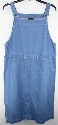 a568f4a893 Urban Outfitters UO Dress Denim Jean Danny Plunging Neck Sleeveless Large.