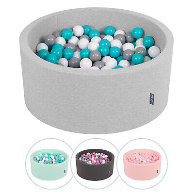 KiddyMoon New Soft Baby Ball Pit Foam Pool 90x40 with 300 Balls,Variety of Color