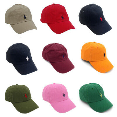 Unisex Classic Embroideried Colourful Pony Polo Cap RL Baseball Chino Sports Hat