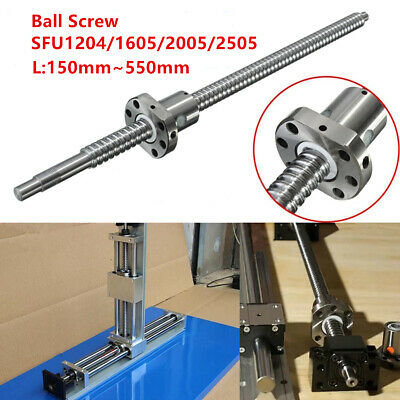 150-550MM Ball Screw SFU1204 SFU1605/2005/2505 End Support & Ballnut Housing CNC
