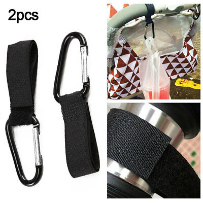 2Pcs Shopping Bag Hooks Up Buggy Pram Stroller Pushchair Clips Hand Carry Tools
