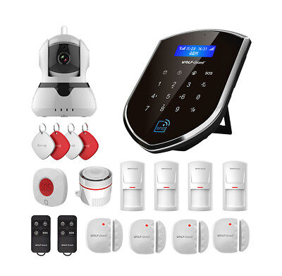 Wolf-Guard WIFI GSM SMS App Control IP Camera Standard Kit for Home Alarm System