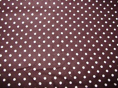 Flannelette Fitted Brown & White Spots Cot Sheet Handmade