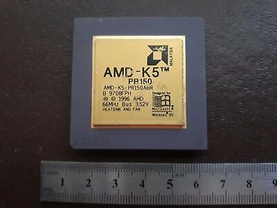 Amd-K5 Pr-150 Pr`` Abq Gold  Vintage Ceramic Cpu For Gold Scrap Recovery
