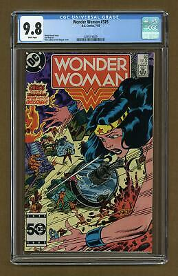 Wonder Woman (1st Series DC) #326 1985 CGC 9.8 0289218029