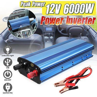 3000W-6000W Car Solar Power Inverter DC12-60V To AC 110V/220V Sine Wave Convert