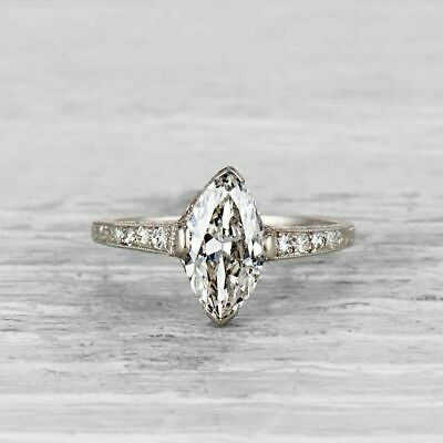 1.35 Ct Antique Art Deco Round Cut Vintage Engagement Ring 925 Sterling Silver