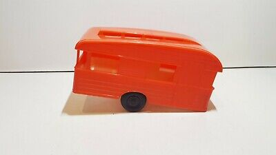Vintage Plastic Camping caravan Made in Italy Scale ca. 1/24 16,6 x7x 9 cm nice