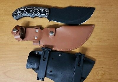 Tracker knife with 2 sheaths free shipping.