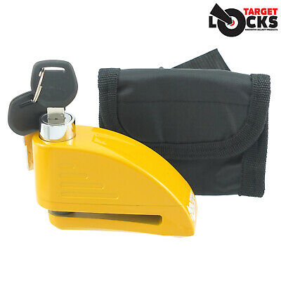 Motorcycle Disc Brake Alarm Lock Motorbike Bike Scooter Disk Security Free Case