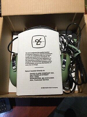 David Clark H10-40 Pilot Aviation Headset Noise Cancelling Mic Dual Plug