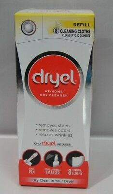 Dryel At-Home Dry Cleaner Refill, Cleans 8 Loads, Up To 40 Garments New In Box