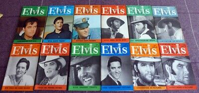Elvis Presley, Elvis Monthly Magazines A Collection Of Twelve 1969 A Full Year.
