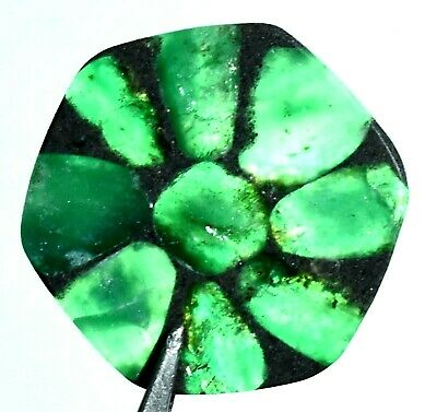 27.65 Ct Natural Colombian Trapiche Emerald Gem Stone From Muzo AGSL Certified
