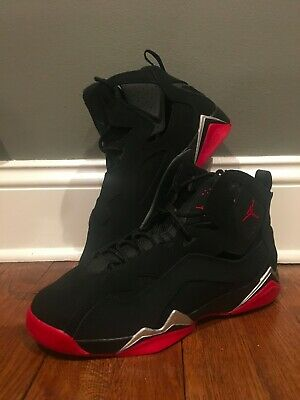 06bdc3c2d550ab Air Jordan True Flight BG 343795 003 Black Gym Red Boys Sz 6.5Y Womens Sz