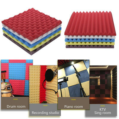 Acoustic Foam Panel Sound Stop Absorption Sponge Studio KTV Soundproof Pad CH