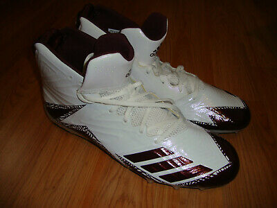 pretty nice 29ff7 8ce8d Adidas Freak X Carbon Mid Football Cleats White Red B42586 Mens Size 15