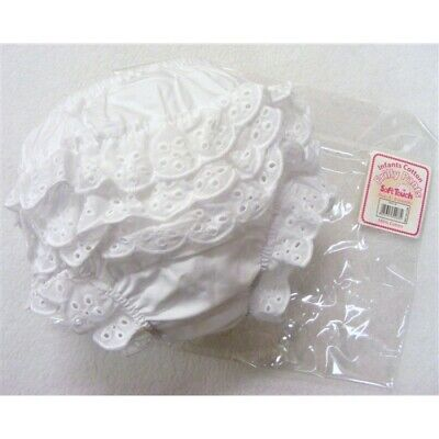 Girls white Broderie Anglaise cotton frilly knickers pants 0-3-6-9-12-18 months