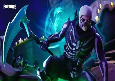 Fortnite Skull Trooper Ps4 Xbox Gaming Poster Wall Art Picture Print Size A3