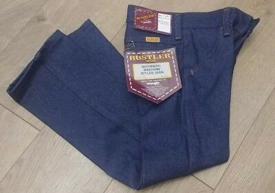 Rustler Vintage Children's Jeans Size 5 slim new blue 75r53 dark wash western