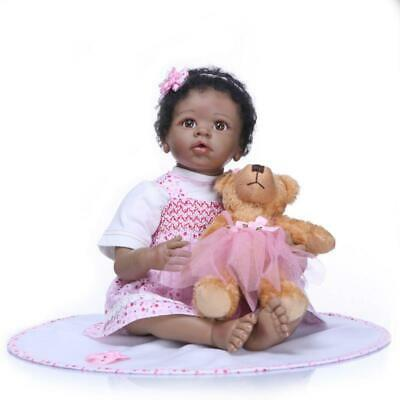Dolls+Clothes Vinyl Doll lovely Silicone Babies 22'' Handmade Girl Gift Baby