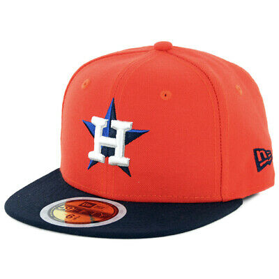 New Era 59Fifty Houston Astros Youth ALT Fitted Hat (OR/NV) Kid's MLB Cap