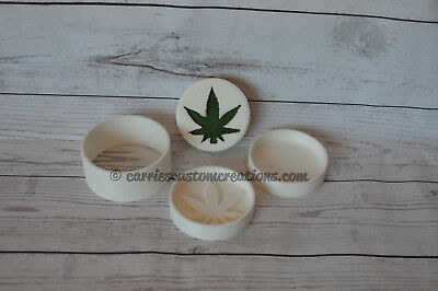 3D Printed Bath Bomb Mold - Pot Leaf Shape