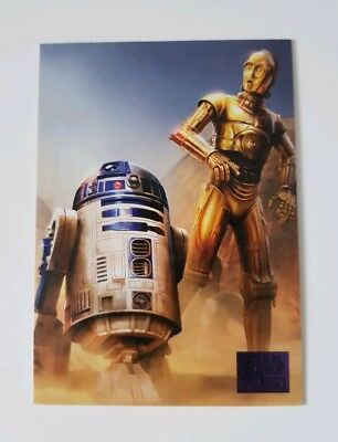 Topps Star Wars Galaxy 2018 Purple Parallel Trading Card 66/99