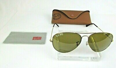 6cf3b7e732c Ray-Ban Aviator Large Metal Gold RB3026 Medium Authentic Polarized  Sunglasses