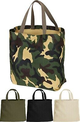 13b29f31f76 Canvas Tote Shopping Bag Shoulder Reusable Grocery Beach Heavyweight Durable