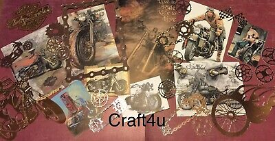 Craft clearout mix bundle joblot vintage Pink card toppers// paper die cuts
