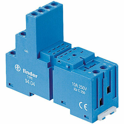 Finder 94.04 Relay Socket 250V 10A for 55.32 and 55.34 Series Relays