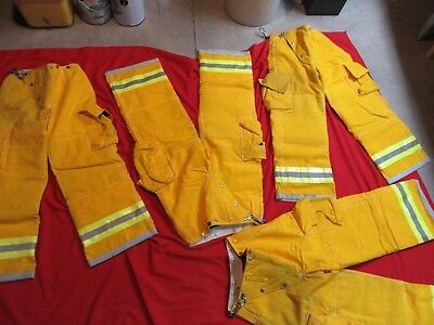 N.O.S. VINTAGE GLOBE Turnout PANTS 26 x 28  FIREFIGHTER FIREMAN BUNKER GEAR LION