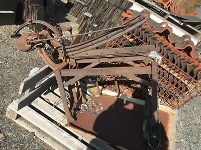 antique foot operated slate cutter