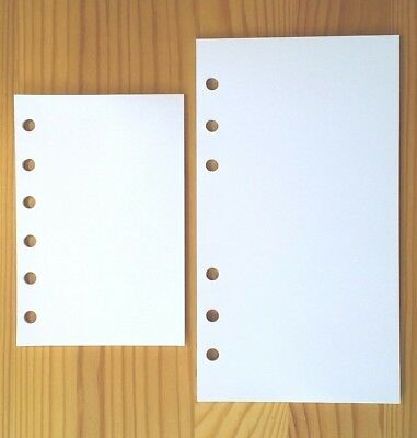 Personal Organiser Refill Plain Paper Note Inserts Fit Filofax Pocket/Personal