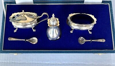 Sterling Silver Cruet  Five Piece Set, Never Used