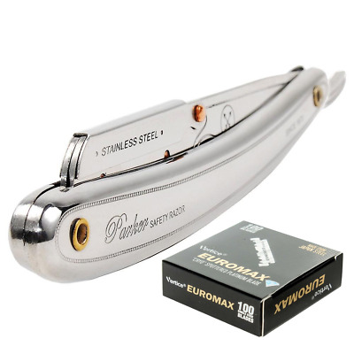 PARKER 31R Stainless Steel Shavette RAZOR | Cut Throat SR1