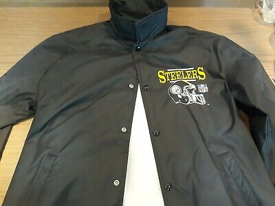 check out 1f3c7 43483 VINTAGE 80S CHALK Line Pittsburgh Steelers Jacket Medium Football NFL Nylon