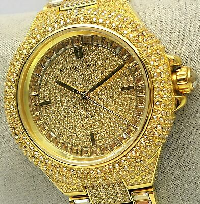 0cb09ba33d0f Michael Kors CAMILLE MK5720 Ladies Pave Gold Glitz Stainless Watch  550 NEW