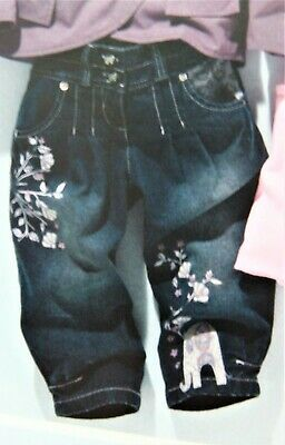 Bnwt Girls Next Denim Crop Jeans 3-4 Yrs New Party Blue Pants Top Christmas Trs