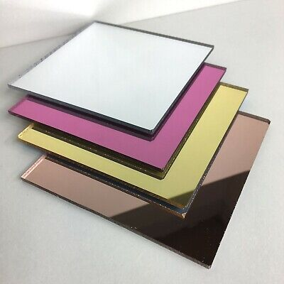 Acrylic mirror sheet perspex Rose gold silver pink mirror cut to size plastic