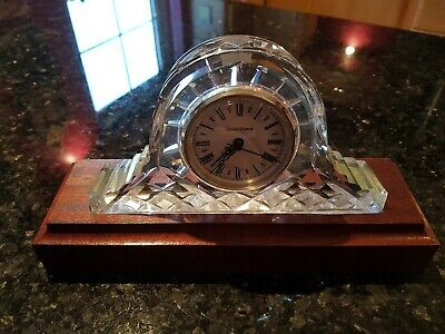 Tyrone Crystal Clock, Full Lead Crystal, Handmade, With Stand.
