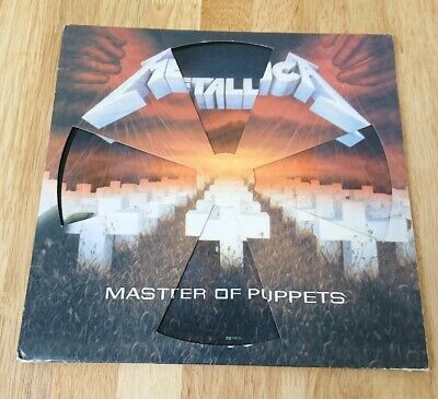 """Metallica Master Of Puppets 12"""" Picture Disc, Die Cut Sleeve 838 141-3"""