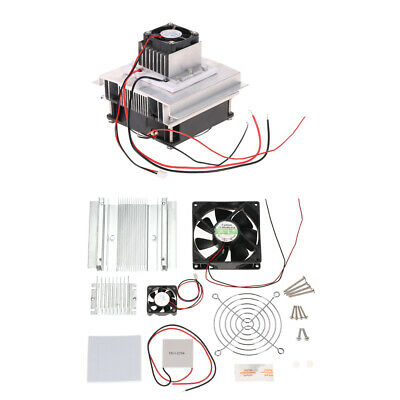 DIY Thermoelectric Peltier Refrigeration Cooling System Kit with Cooler Fan B3Z7