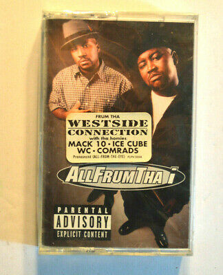 Rare CASSETTE - ALL FRUMTHE I - S/T SEALED w/ HYPE STICKER Mack 10 Ice Cube