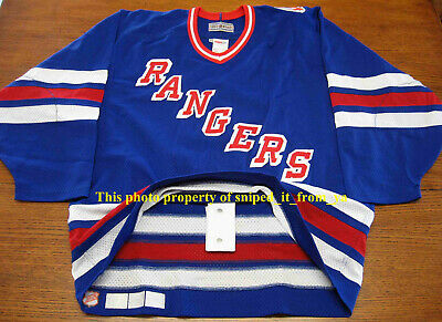 ffc012c57 1994 CCM New York NY Rangers Stanley Cup Authentic On Ice Game Jersey Sz 48  NYR