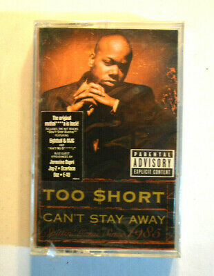Rare CASSETTE - TOO SHORT - CAN'T STAY AWAY SEALED w/ HYPE STICKER 1999 Jive OOP